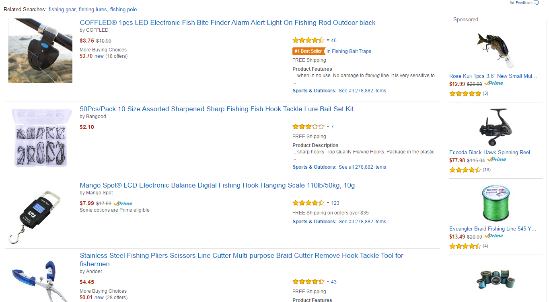 Amazon Fishing Products