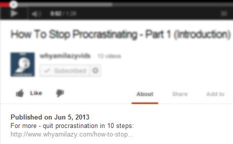 youtube video description backlink example