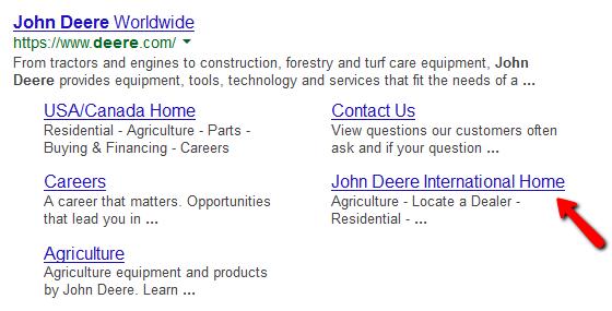 What are sitelinks