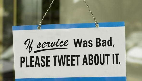Image: If your service was bad, tweet about it